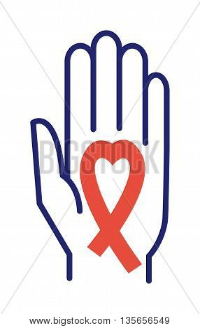 Breast cancer sign awareness background with human hands. Cancer sign health support campaign hope symbol. Illness concept icon cancer sign sickness, survivor medical cause element.