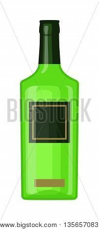 Alcohol martini bottle restaurant liquid vector. Tropical scotch brewery martini bottle vine vermouth liquor. Party martini bottle design beverage. Alcohol lifestyle healthy drink.