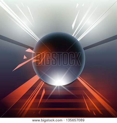 Sci-fi Laser Sphere Orange