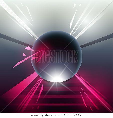 Sci-fi Laser Sphere Pink