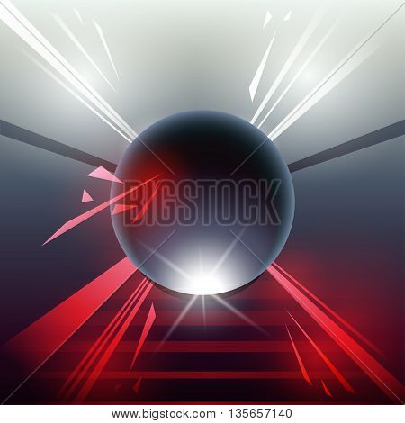 Sci-fi Laser Sphere Red