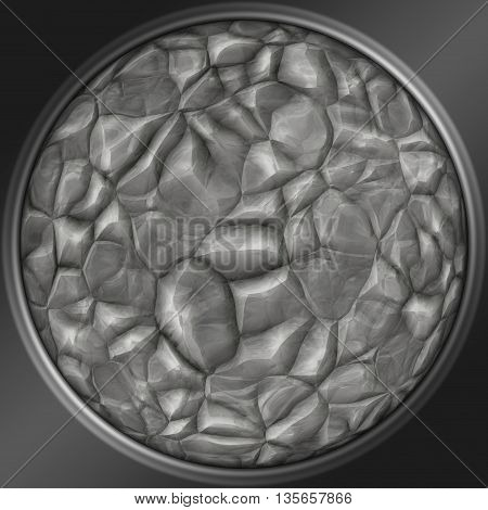 Abstract decorative silver sphere - stone pattern