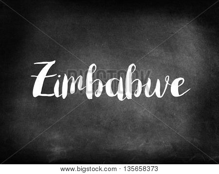 Zimbabwe written on blackboard