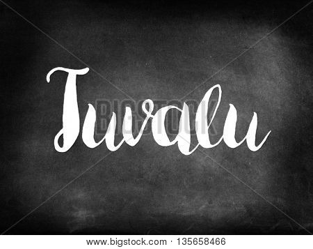 Tuvalu written on blackboard