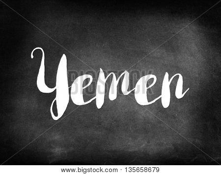 Yemen written on blackboard