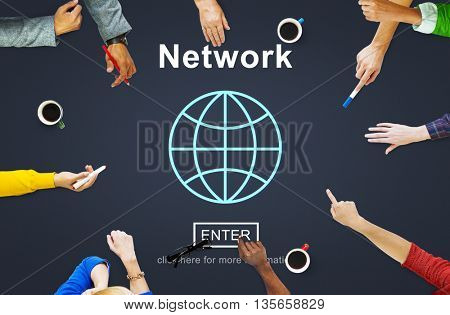 Network Connection Social Media Networking Technology Concept