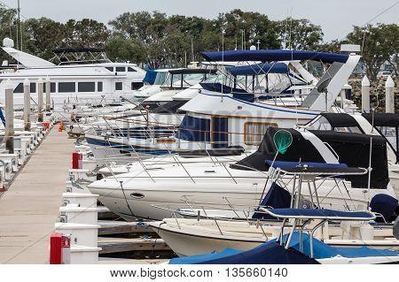 Many Yachts at a San Diego Marina