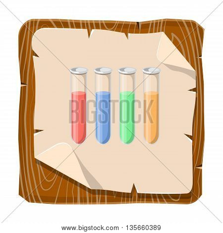 Test Tubes Colorful Icon