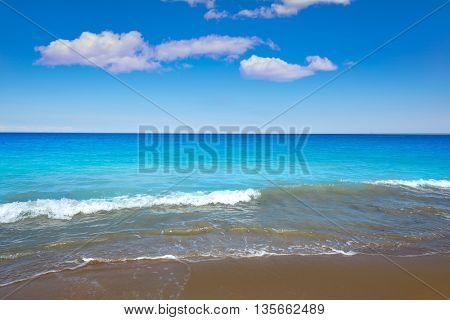 Las Marinas beach in Denia at alicante province of spain