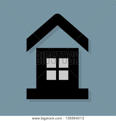Abstract House icon or sign, vector illustration
