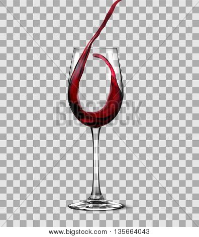 Red Wine isolated on a white background. vector illustration.