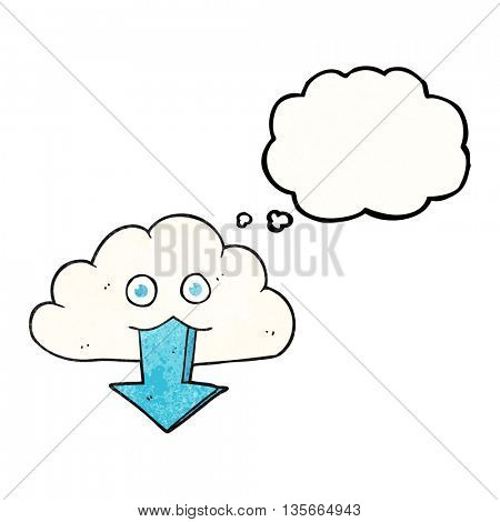 freehand drawn thought bubble textured cartoon download from the cloud