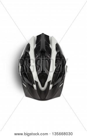 Bicycle Helmet Head Safety. View from the top. With clipping path