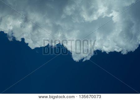 Big Cloud On Blue Sky