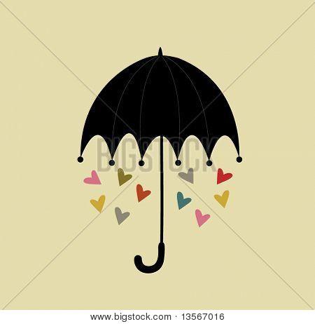 umbrella with love design
