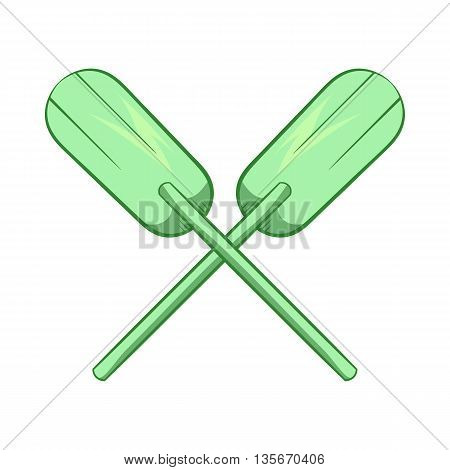 Paddles icon in cartoon style isolated on white background. Rowing symbol