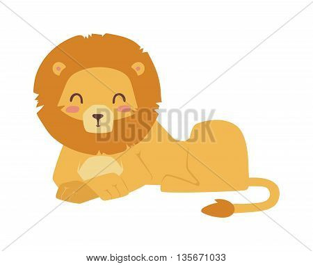 Cute lion cartoon vector illustration. Zoo wild cartoon lion graphic african design mascot. Safari fur feline big cartoon lion mammal animal. Wildlife africa zoo character jungle wild lion vector.