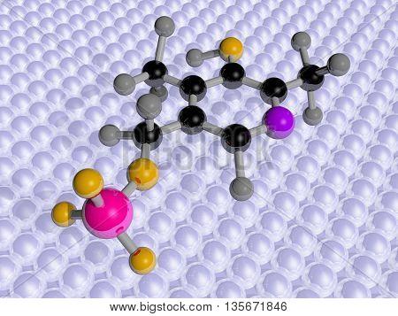 Molecular Science 3D representation of Vitamin B6