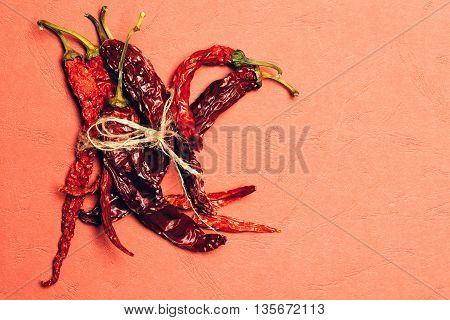 Red Chilli Pepper In Rope