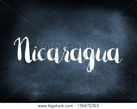 Nicaragua written on a blackboard