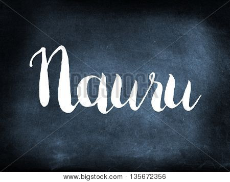 Nauru written on a blackboard