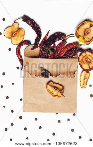 Chilli Pepper And Allspice Isolated