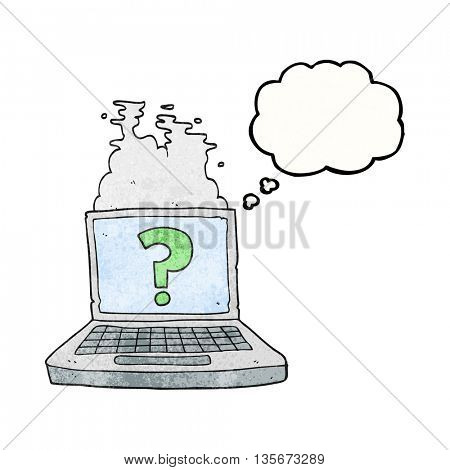 freehand drawn thought bubble textured cartoon internet search