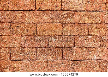 laterite wall a hazel filled with rough surfaces