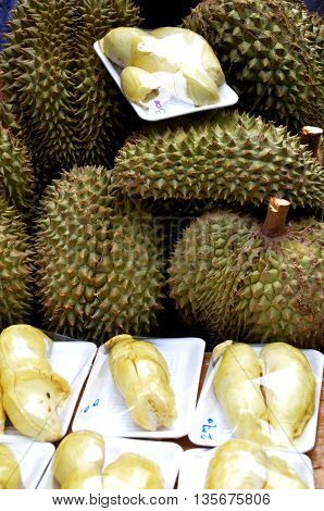 Durian At The Street Market