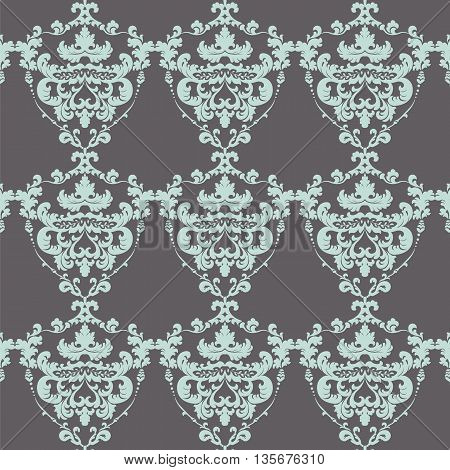 Vintage Damask Elegant Royal ornament pattern. Luxury texture for fabric textile design wedding invitations greeting cards background cards. Tourmaline and volcanic colors. Vector