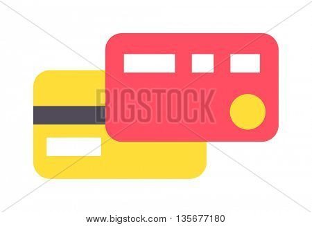 Flat vector money card isolated on white