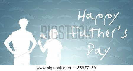 composite image for fathers day in a grey background