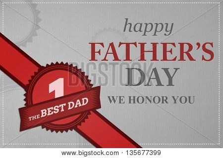 Happy fathers day against grey background