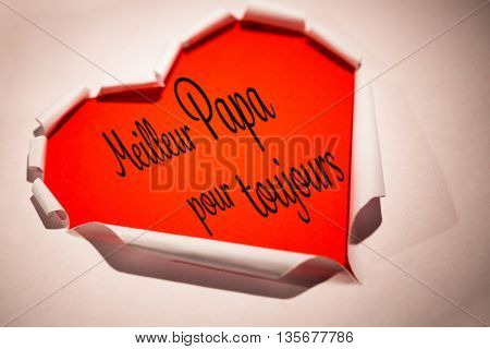 Word meilleur papa pour toujours against white background with vignette