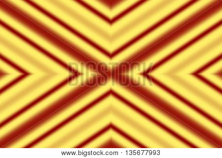 Illustration of a yellow and red x-pattern