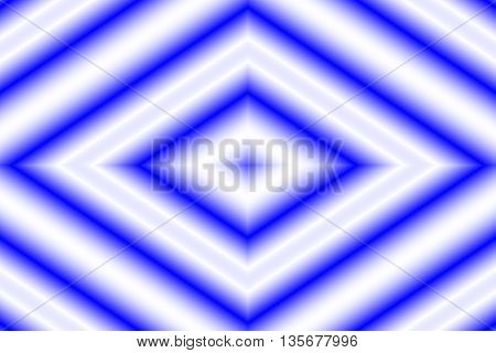 Illustration of a dark blue and white rhombus