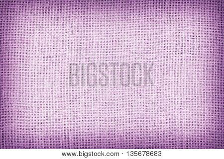 Natural Sackcloth Textured For Background, Purple Colour