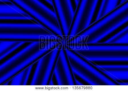 Illustration of a dark blue and black star