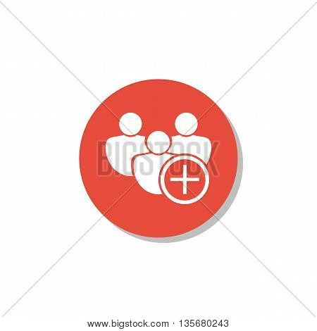 User Add Icon In Vector Format. Premium Quality User Add Symbol. Web Graphic User Add Sign On Red Ci