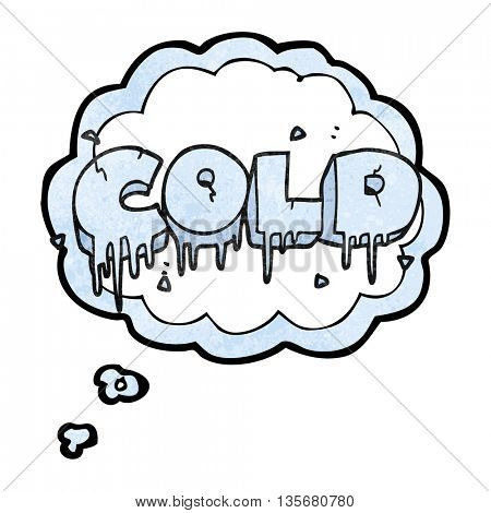 freehand drawn thought bubble textured cartoon cold text symbol