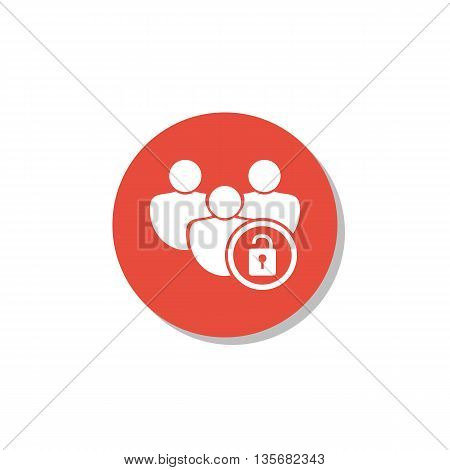 Lock Open Icon In Vector Format. Premium Quality Lock Open Symbol. Web Graphic Lock Open Sign On Red