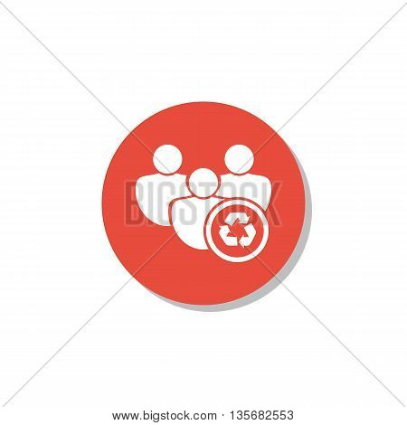 Recycle Icon In Vector Format. Premium Quality Recycle Symbol. Web Graphic Recycle Sign On Red Circl