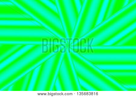 Illustration of a cyan and green star pattern