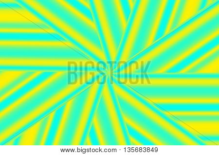 Illustration of a yellow and cyan star pattern