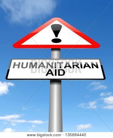 Humanitarian Aid Concept.