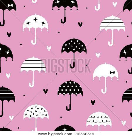vector Seamless umbrella with love wallpaper design