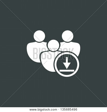 Download Icon In Vector Format. Premium Quality Download Symbol. Web Graphic Download Sign On Dark B