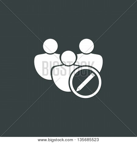 User Edit Icon In Vector Format. Premium Quality User Edit Symbol. Web Graphic User Edit Sign On Dar
