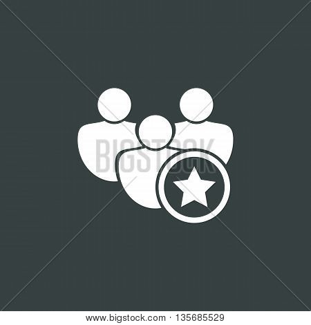 User Star Icon In Vector Format. Premium Quality User Star Symbol. Web Graphic User Star Sign On Dar