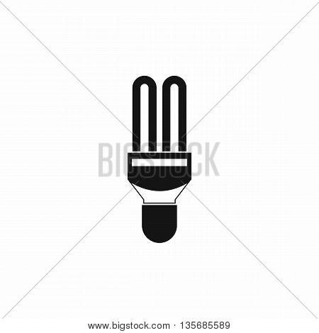 Fluorescence lamp icon in simple style isolated on white background